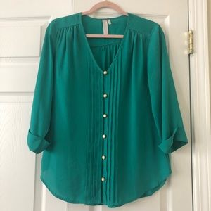 Love notes blouse, size small